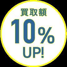 買取額10%UP!